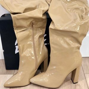 ASOS public desire wide fit slouchy knee boots